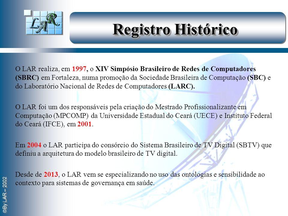 By LAR – 2002 Registro Histórico O LAR realiza, em 1997, o XIV Simpósio Brasileiro de Redes de Computadores (SBRC) em Fortaleza, numa promoção da Soci