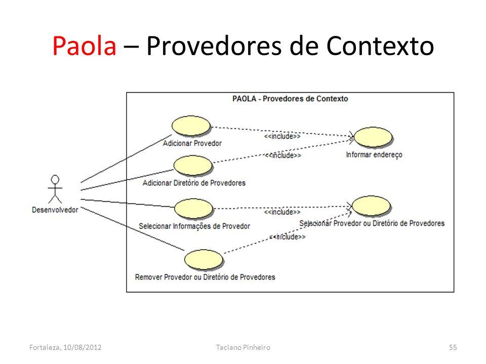 Paola – Provedores de Contexto Fortaleza, 10/08/2012Taciano Pinheiro55