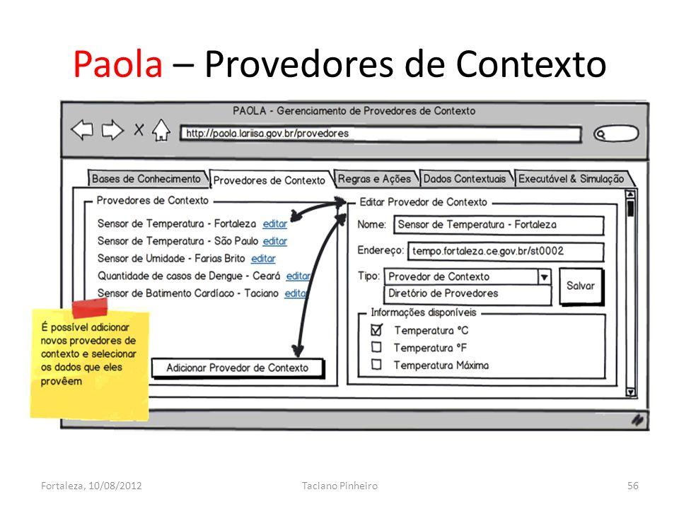 Paola – Provedores de Contexto Fortaleza, 10/08/2012Taciano Pinheiro56