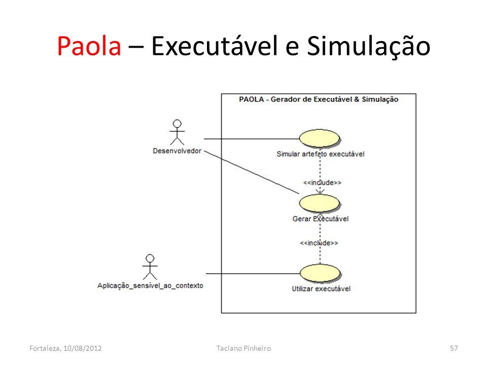Paola – Executável e Simulação Fortaleza, 10/08/2012Taciano Pinheiro57