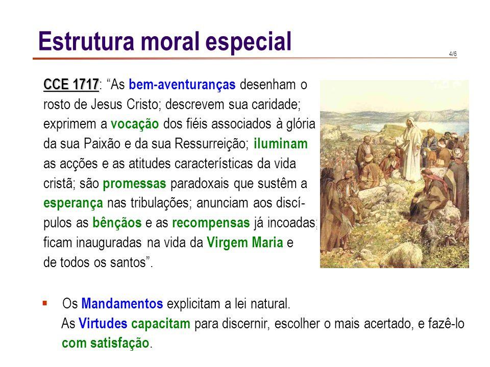 3/6 Estrutura moral especial CCE 2070 CCE 2070 : Os Dez Mandamentos pertencem à revelação de Deus. Mas ao mesmo tempo ensinam-nos a verdadeira humanid