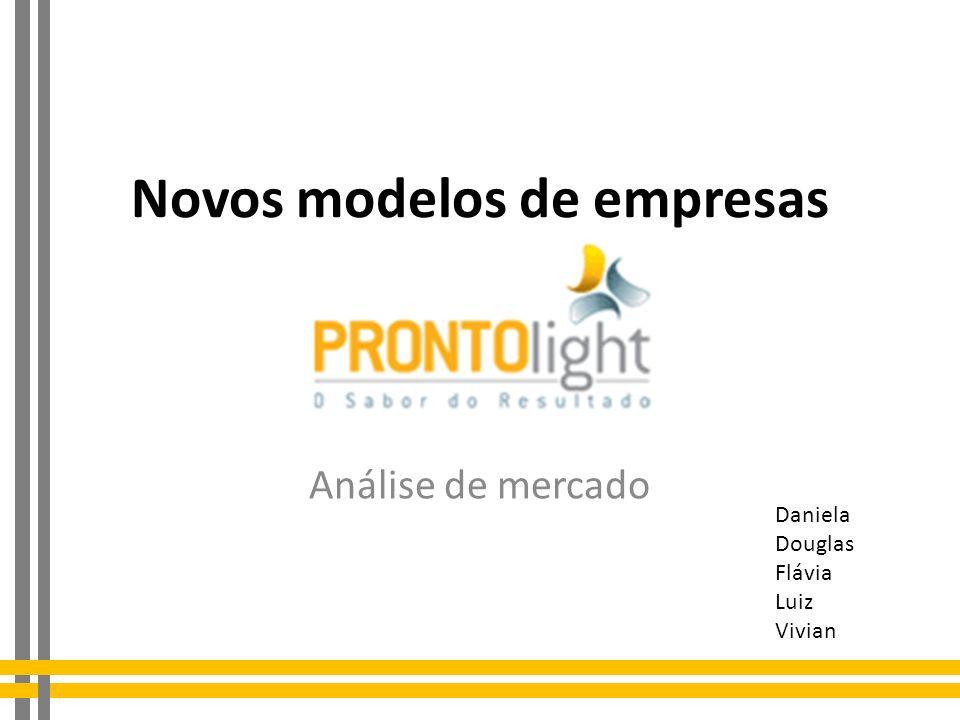 Novos modelos de empresas Análise de mercado Daniela Douglas Flávia Luiz Vivian