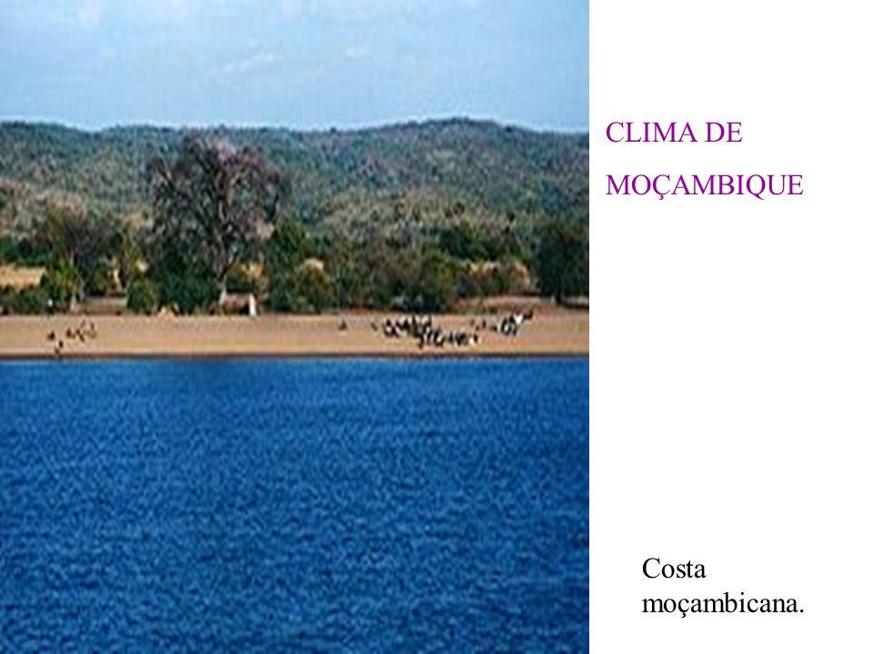CLIMA DE MOÇAMBIQUE Costa moçambicana.