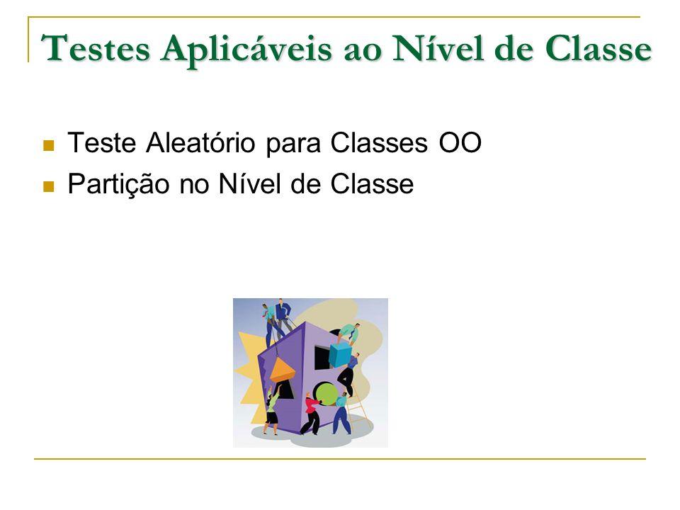 Testes Aplicáveis ao Nível de Classe Teste Aleatório para Classes OO Partição no Nível de Classe
