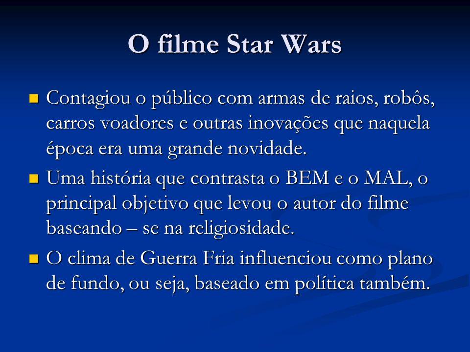 O filme Star Wars Contagiou o público com armas de raios, robôs, carros voadores e outras inovações que naquela época era uma grande novidade. Contagi