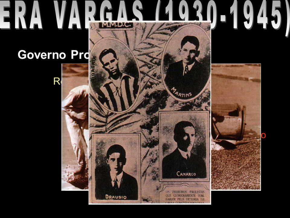 Governo Provisório (1930-1934) Revolução Constitucionalista (1932) Local: São Paulo Motivos Nomeação de João Alberto Governo Inconstitucional