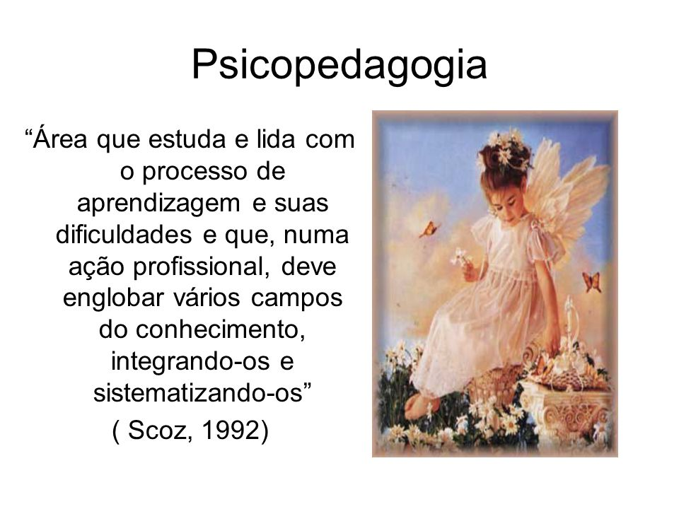 O objeto da psicopedagogia não é então, no meu ponto de vista, o conteúdo ensinado ou o conteúdo apreendido ou não-aprendido.