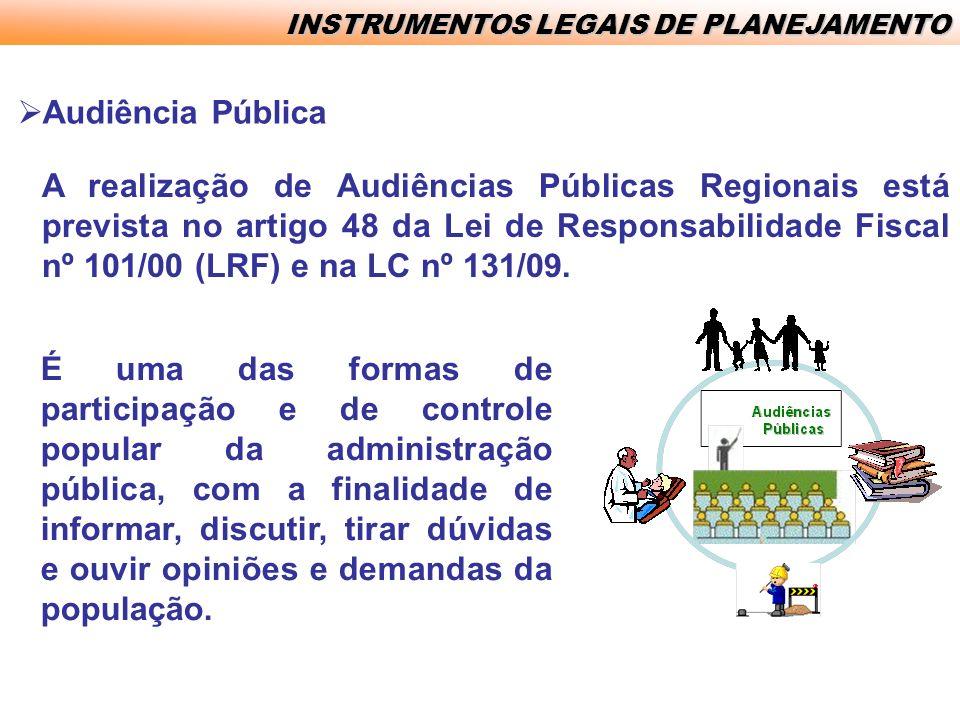 INSTRUMENTOS LEGAIS DE PLANEJAMENTO
