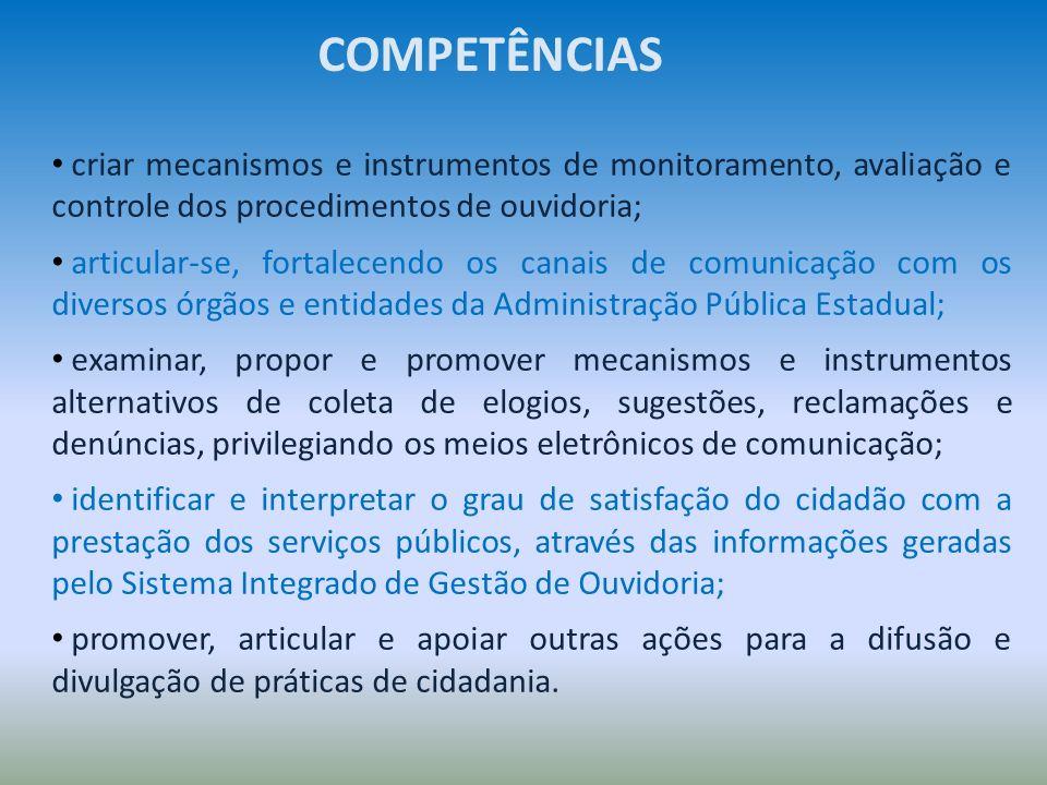 criar mecanismos e instrumentos de monitoramento, avaliação e controle dos procedimentos de ouvidoria; articular-se, fortalecendo os canais de comunic
