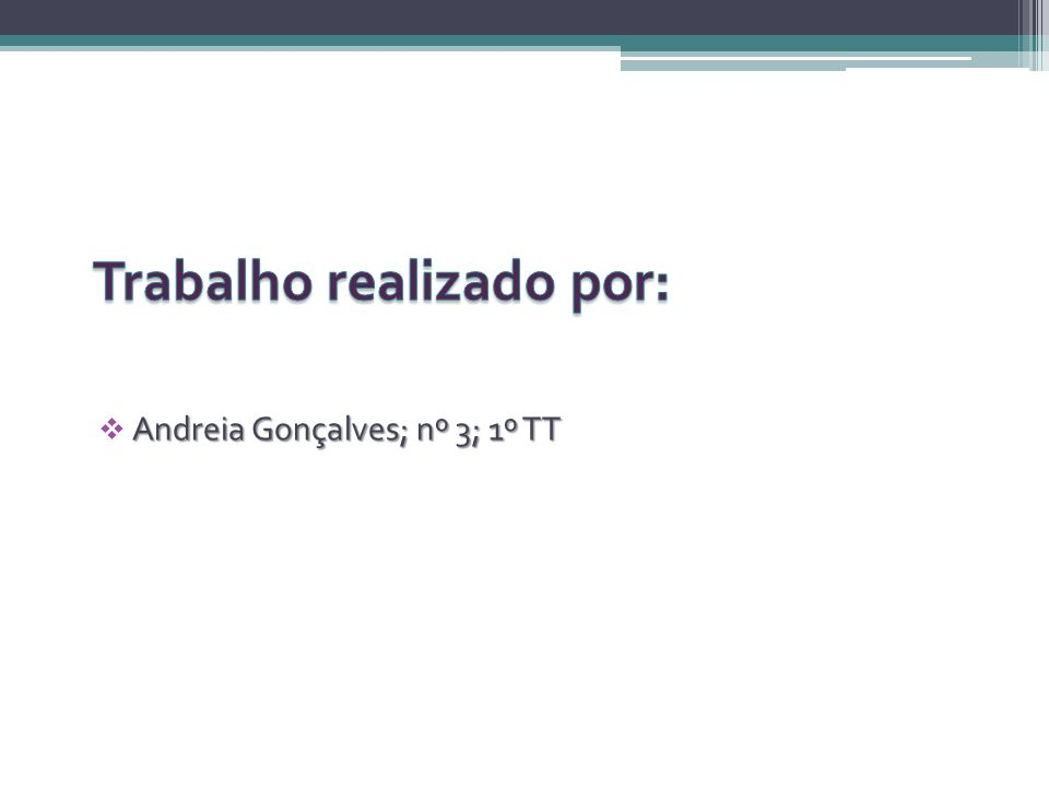 Andreia Gonçalves; nº 3; 1º TT