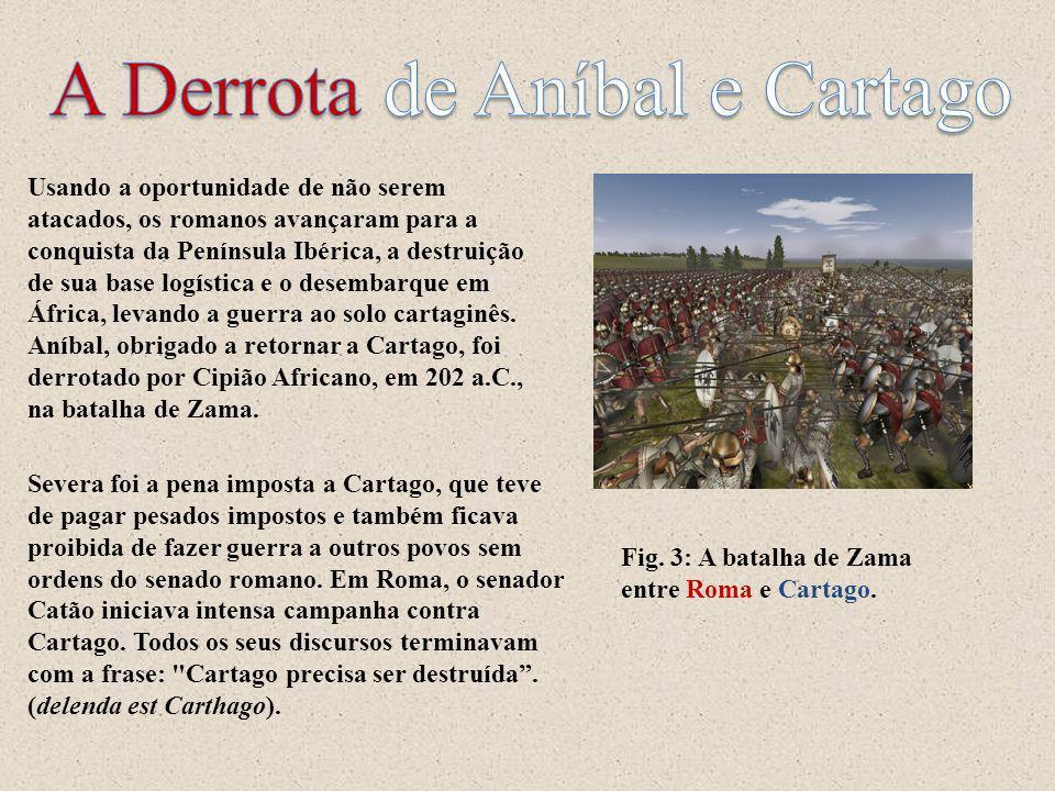 Usando a oportunidade de não serem atacados, os romanos avançaram para a conquista da Península Ibérica, a destruição de sua base logística e o desemb