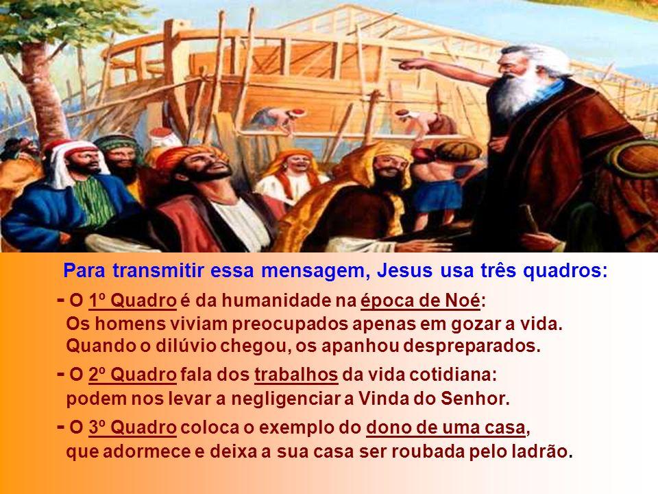 O Evangelho é um apelo à VIGILÂNCIA, para reconhecer o Senhor na sua chegada. Será a realização do sonho do Profeta. (Mt 24,37-44) Na 2ª Leitura, São