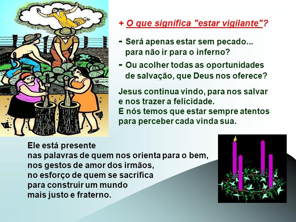 Para transmitir essa mensagem, Jesus usa três quadros: - O 1º Quadro é da humanidade na época de Noé: Os homens viviam preocupados apenas em gozar a v