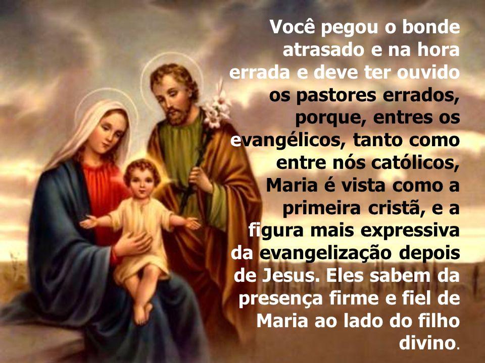 Se você se deu ao trabalho de me escrever uma carta para me levar a Jesus, e se acha capaz disso, imagine então o poder da mãe de Deus.