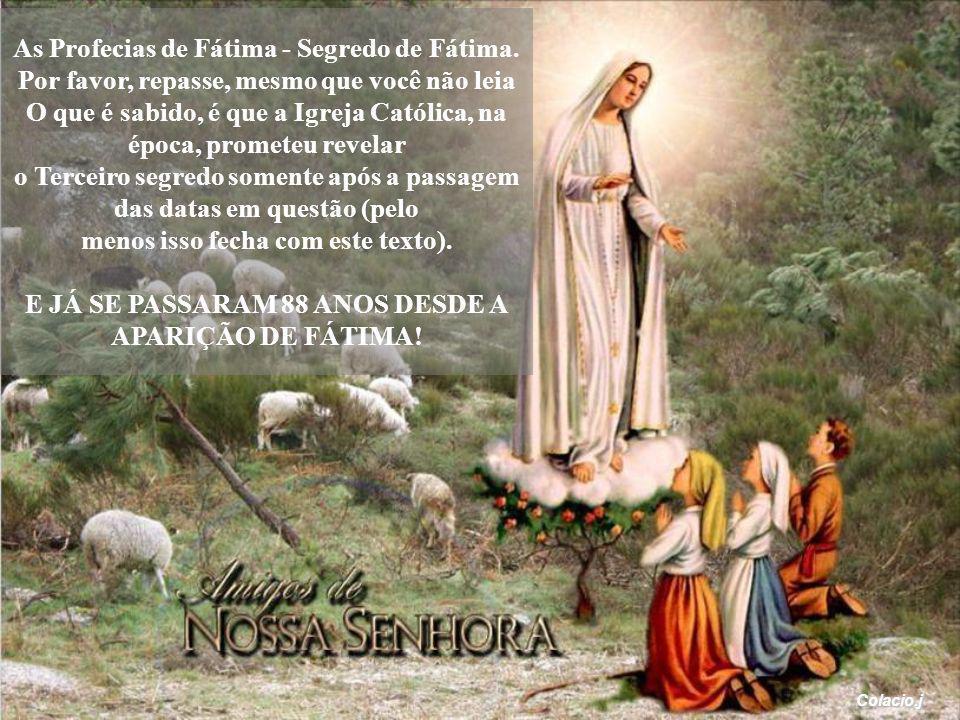 A Irmã Lúcia, faleceu em 11 de fevereiro de 2005.
