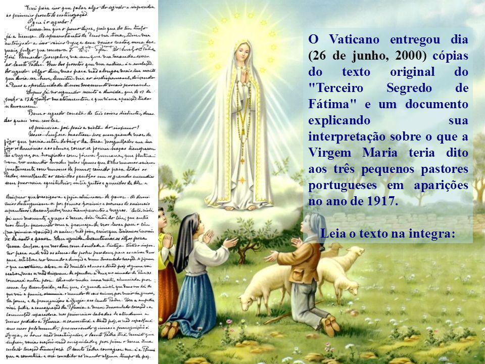 O Papa João Paulo II após seu atentado, tomou conhecimento do conteúdo do segredo e Visita Irmã Lúcia em Portugal para conversarem sobre as visões e a