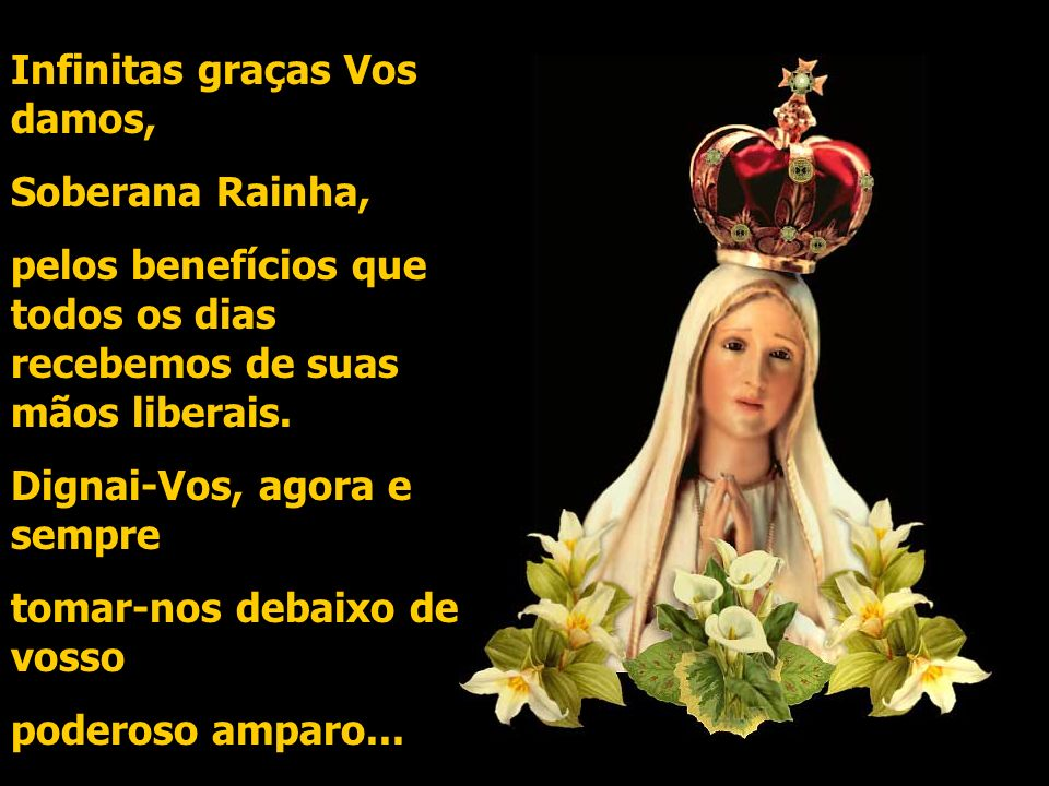 Ave Maria, cheia de graça, o Senhor é convosco. bendita sois vós entre as mulheres, e bendito é o fruto de vosso ventre, JESUS. Santa Maria, Mãe de De