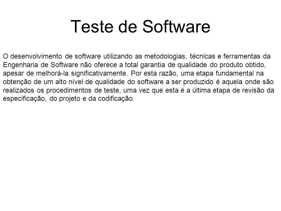 O desenvolvimento de software utilizando as metodologias, técnicas e ferramentas da Engenharia de Software não oferece a total garantia de qualidade do produto obtido, apesar de melhorá-la significativamente.