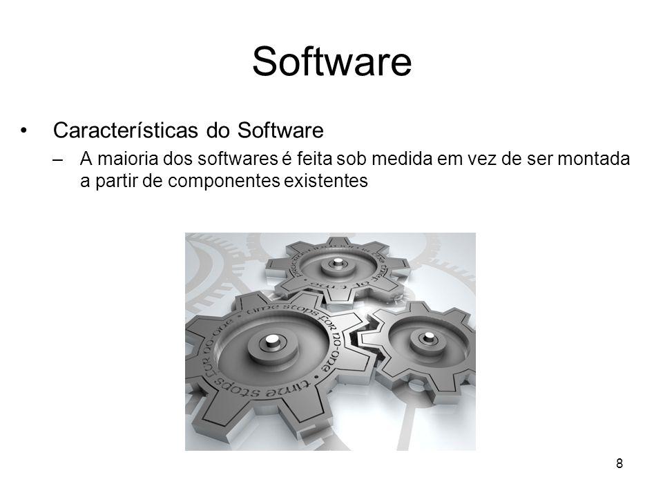 9 Software Componentes do Software –Reusabilidade –Linguagem de máquina –Linguagem montadas –Linguagem de alto nível –Linguagem de quarta geração ou não procedural