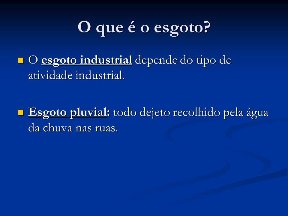 O que é o esgoto? O esgoto industrial depende do tipo de atividade industrial. O esgoto industrial depende do tipo de atividade industrial. Esgoto plu