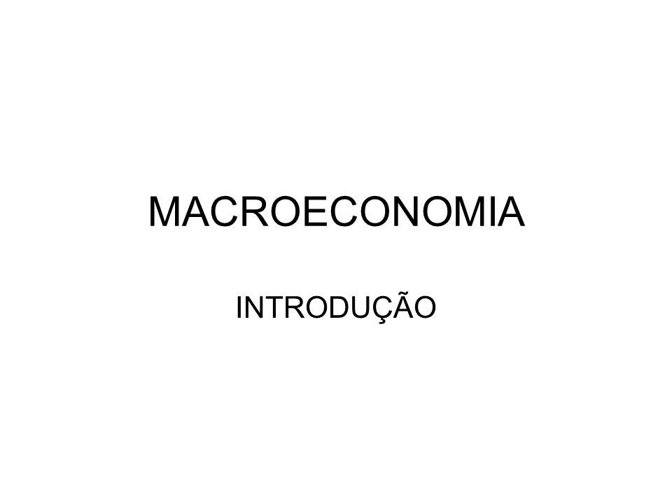 MACROECONOMIA INTRODUÇÃO