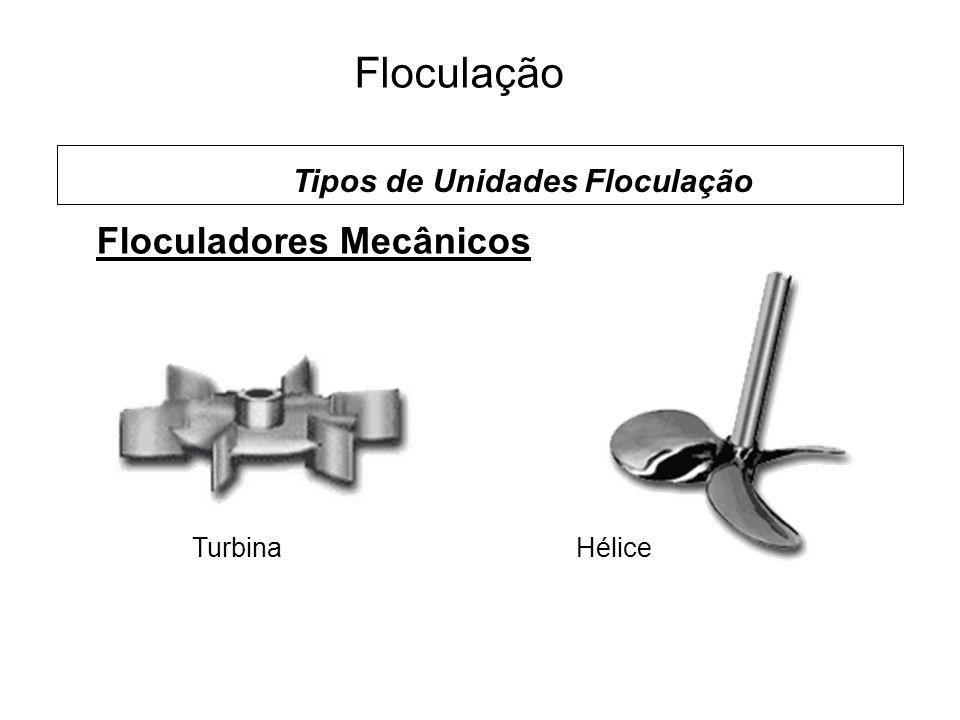 5 Floculação Floculadores Mecânicos TurbinaHélice Tipos de Unidades Floculação