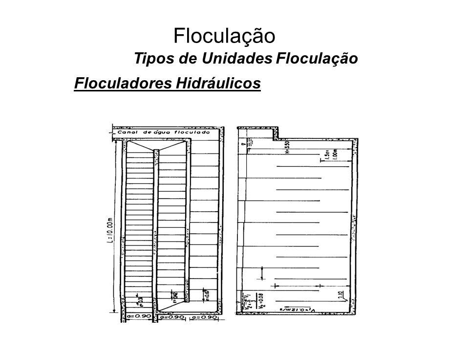 5 Floculação Tipos de Unidades Floculação Floculadores Hidráulicos