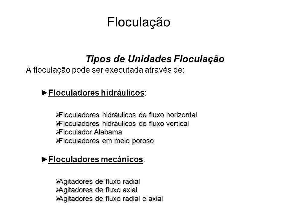 5 Floculação Estudar: Livro: Hidráulica aplicada as estações de tratamento de água Capítulo 8 (8.1; 8.2; 8.3; 8.4; 8.5;8.6; 8.7 E 8.9) Exercício