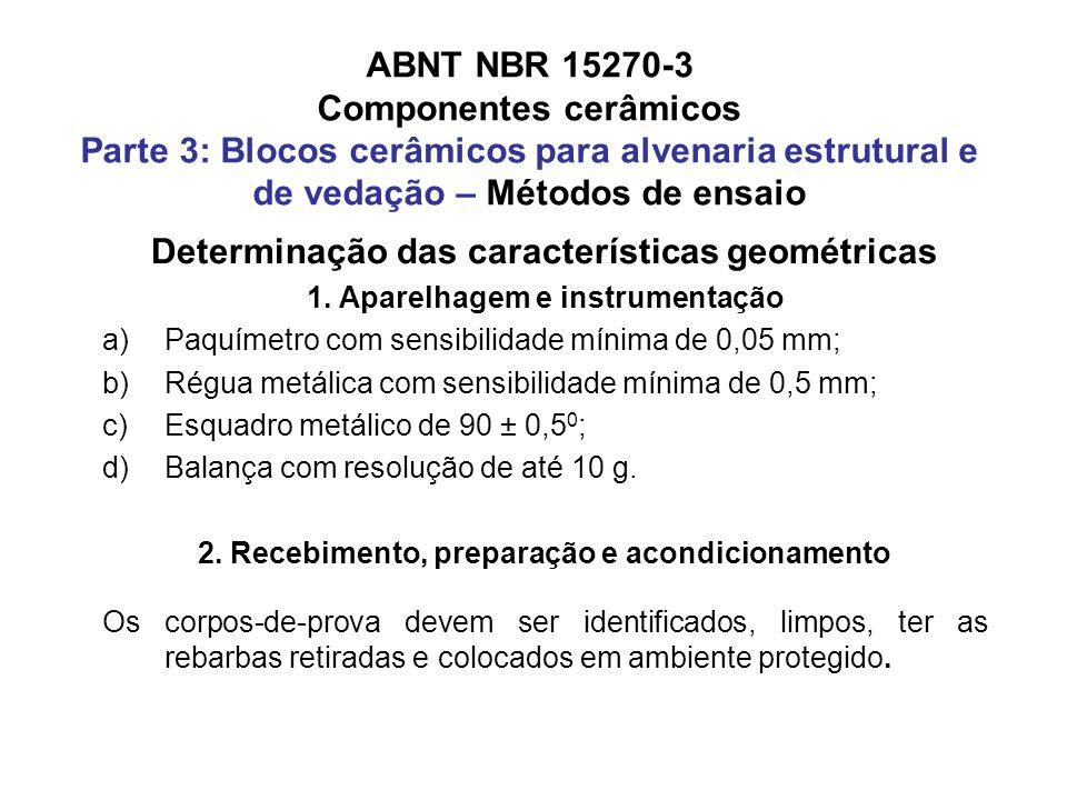 ABNT NBR 15270-3 Componentes cerâmicos Parte 3: Blocos cerâmicos para alvenaria estrutural e de vedação – Métodos de ensaio Determinação das caracterí