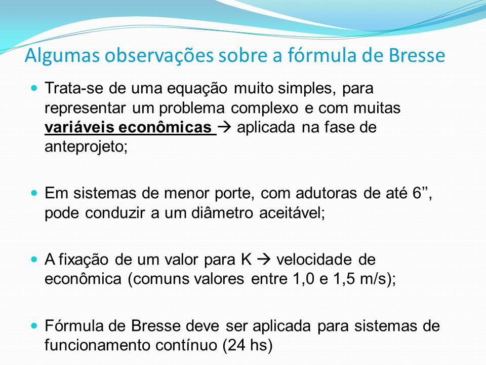 Algumas observações sobre a fórmula de Bresse Trata-se de uma equação muito simples, para representar um problema complexo e com muitas variáveis econ