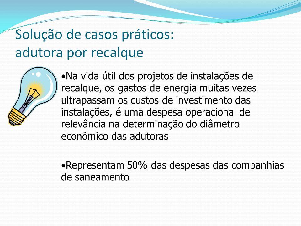 Na vida útil dos projetos de instalações de recalque, os gastos de energia muitas vezes ultrapassam os custos de investimento das instalações, é uma d