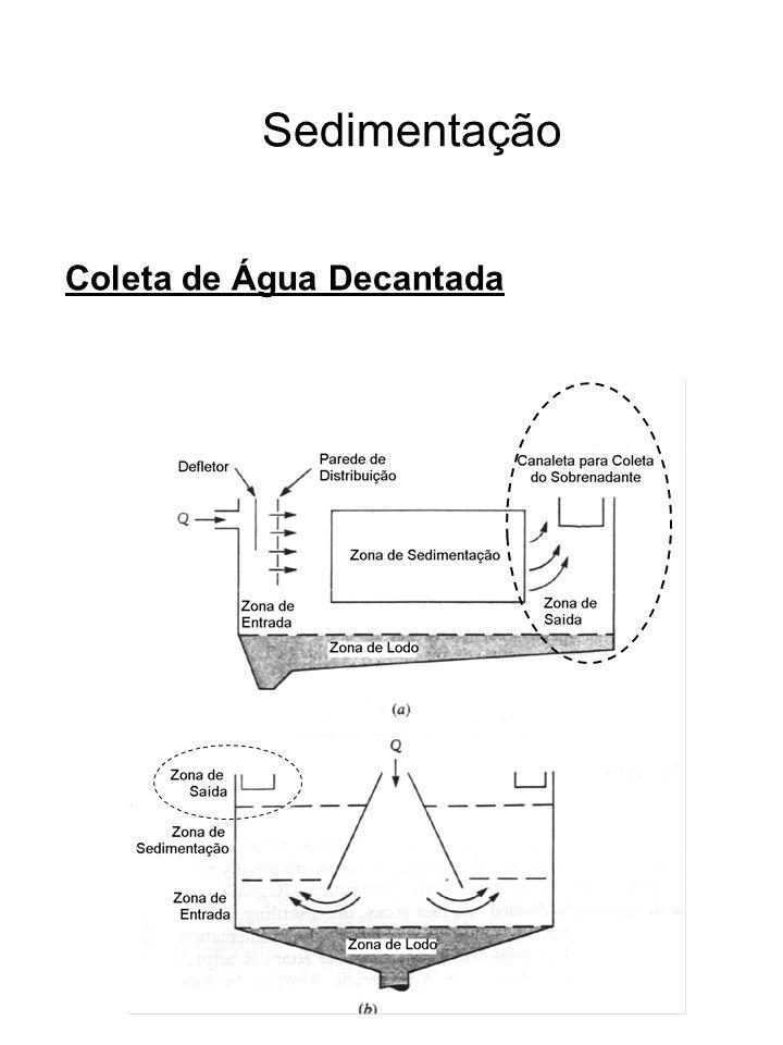Sedimentação Coleta de Água Decantada