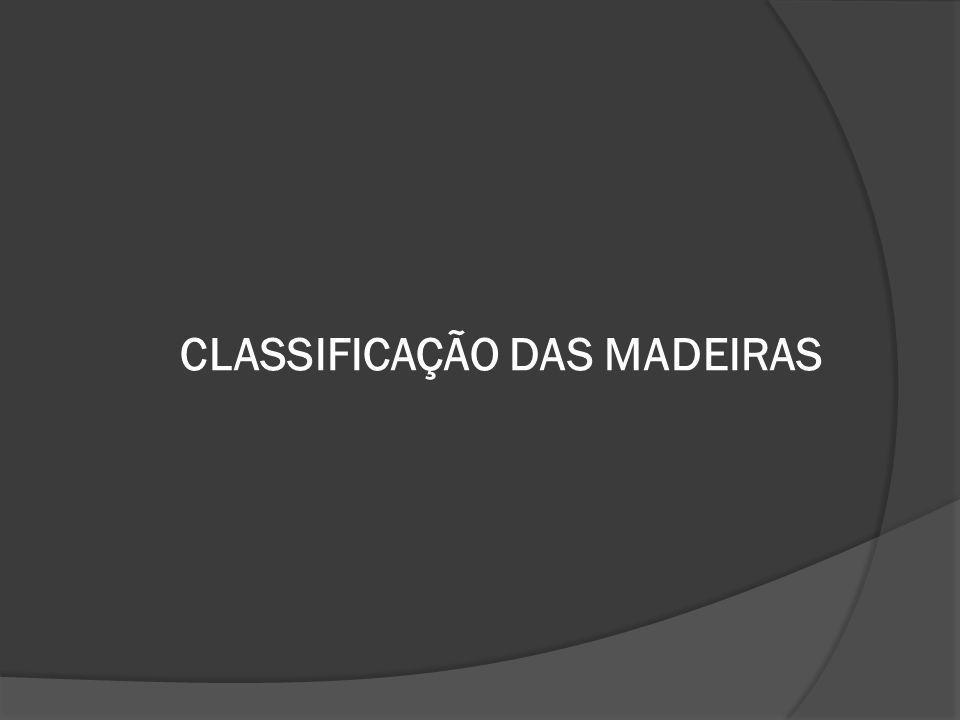 CLASSIFICAÇÃO DAS MADEIRAS