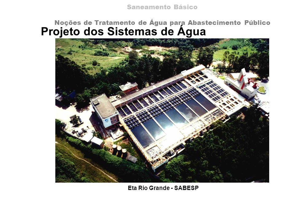 Projeto dos Sistemas de Água Eta Rio Grande - SABESP Saneamento Básico Noções de Tratamento de Água para Abastecimento Público