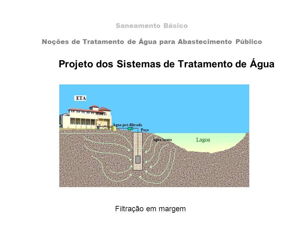 Projeto dos Sistemas de Tratamento de Água Saneamento Básico Noções de Tratamento de Água para Abastecimento Público Filtração em margem
