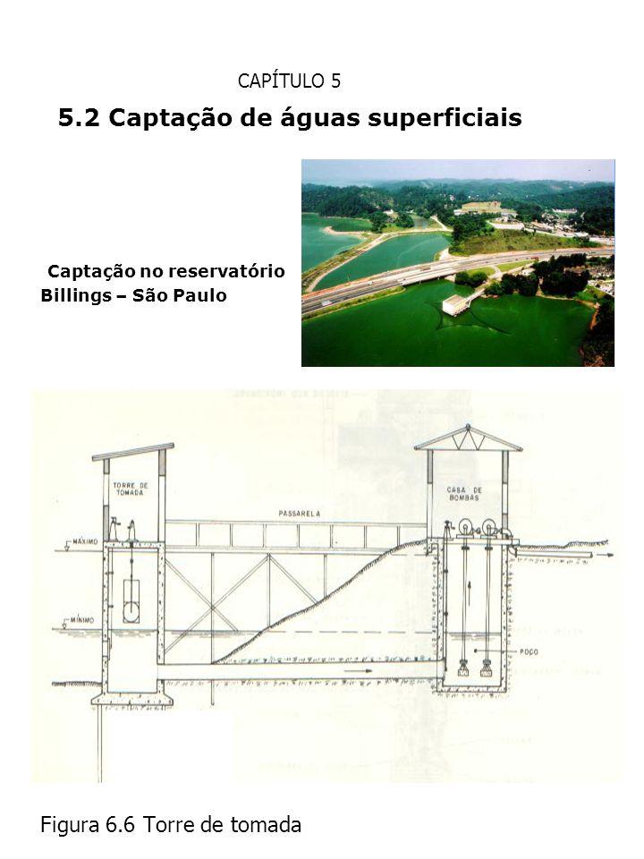 CAPÍTULO 5 5.2 Captação de águas superficiais Captação no reservatório Billings – São Paulo Figura 6.6 Torre de tomada