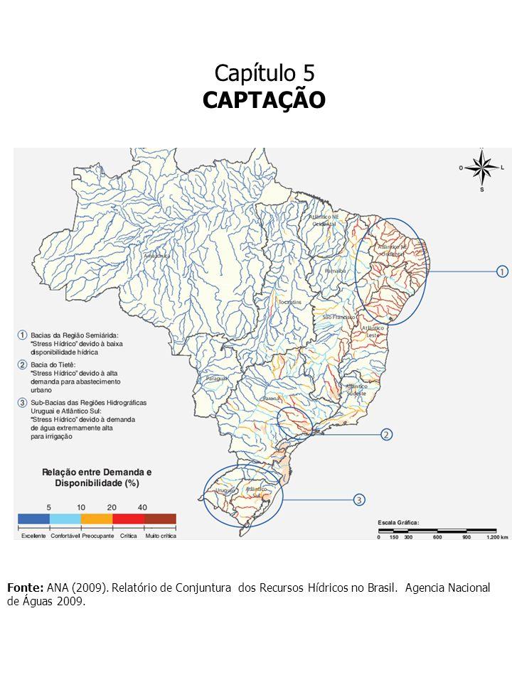 Capítulo 5 CAPTAÇÃO ÁGUA: LEGISLAÇÃO AMBIENTAL LEI 9433/97 Lei dos Recursos Hídricos PORTARIA MS 518/2004 RESOLUÇÃO CONAMA 357/2005 LEI 6938/81 Política Nacional do Meio Ambiente ABNT: Associação Brasileira de Normas Técnicas Certificações Séries ISO 9000, 14000, 8008 LEI n° 11.445/07: Lei do Saneamento Básico Plano de Saneamento Básico LEI n° 11.445/07: Lei do Saneamento Básico Plano de Saneamento Básico Parâmetros Projetos Decreto n.
