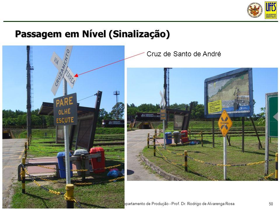 50 Curso de Engenharia Civil - Estradas de Ferro – Departamento de Produção - Prof. Dr. Rodrigo de Alvarenga Rosa Passagem em Nível (Sinalização) Cruz