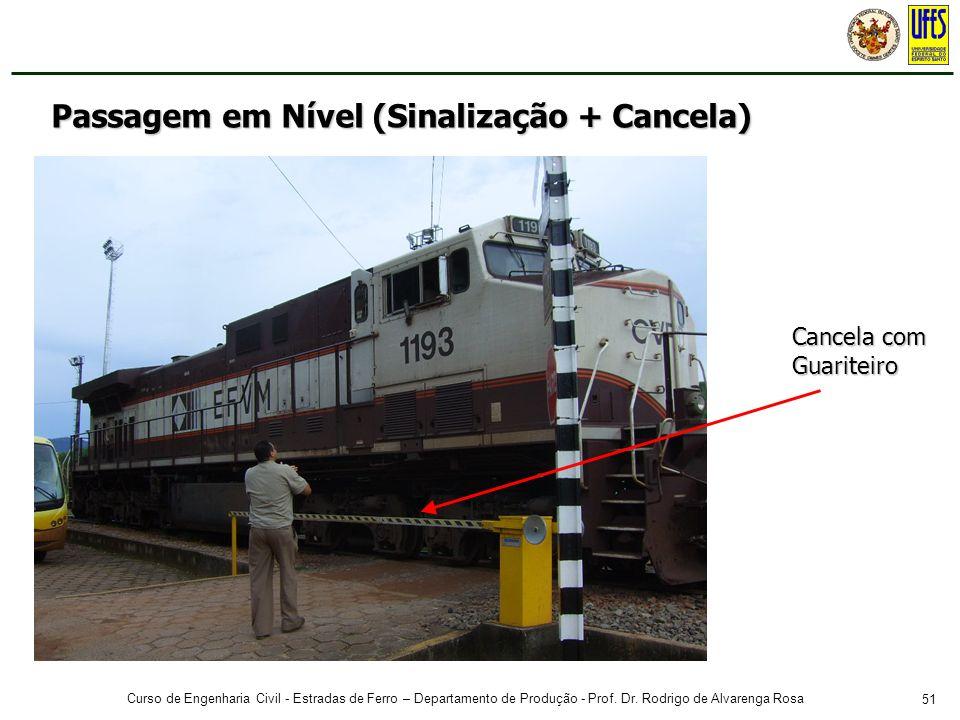 51 Curso de Engenharia Civil - Estradas de Ferro – Departamento de Produção - Prof. Dr. Rodrigo de Alvarenga Rosa Cancela com Guariteiro Passagem em N