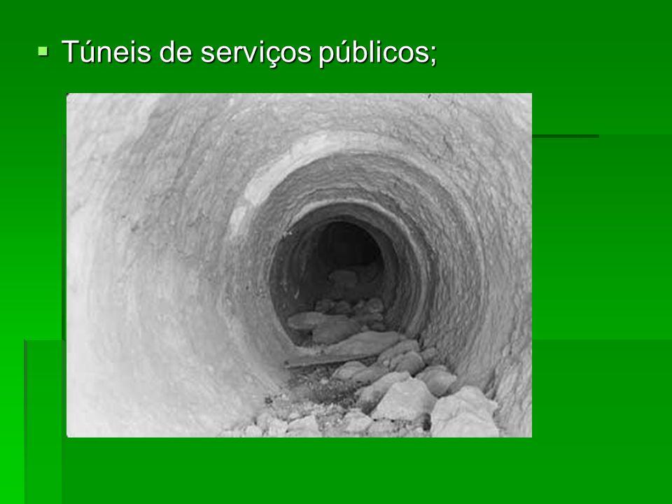 Túneis de serviços públicos; Túneis de serviços públicos;