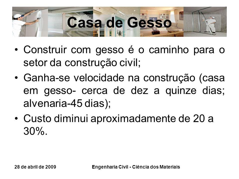 Casa de Gesso Construir com gesso é o caminho para o setor da construção civil; Ganha-se velocidade na construção (casa em gesso- cerca de dez a quinz