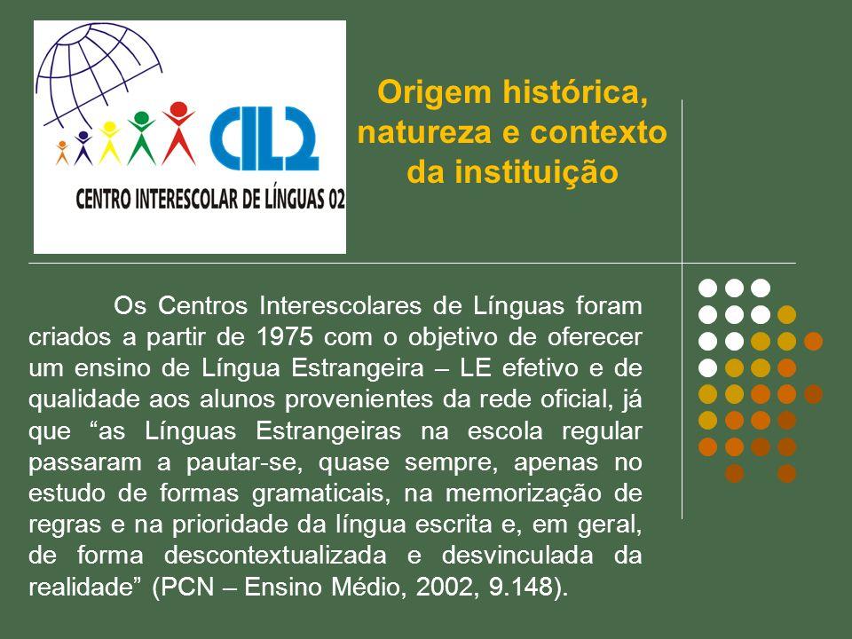 Os Centros Interescolares de Línguas foram criados a partir de 1975 com o objetivo de oferecer um ensino de Língua Estrangeira – LE efetivo e de quali