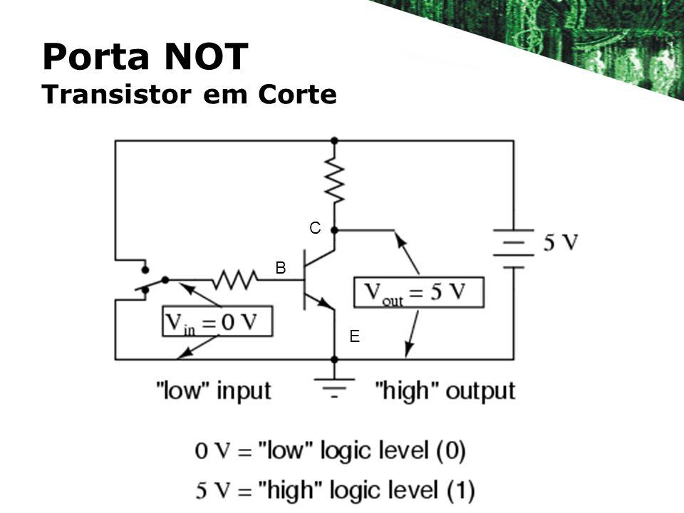 Porta NOT Transistor em Corte B E C