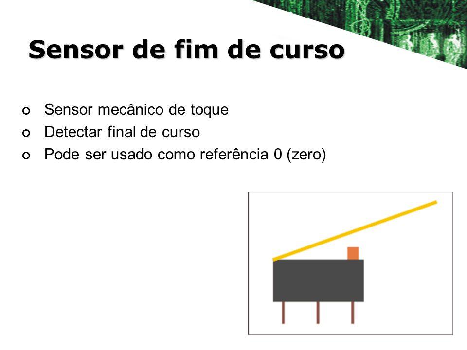 Sensor de fim de curso Sensor mecânico de toque Detectar final de curso Pode ser usado como referência 0 (zero)