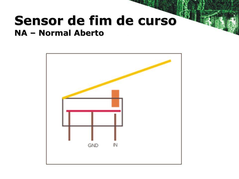Sensor de fim de curso NA – Normal Aberto