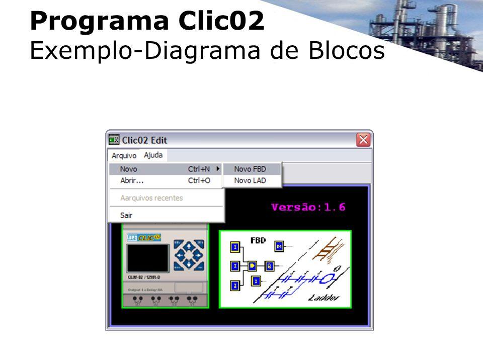 Programa Clic02 Exemplo-Diagrama de Blocos