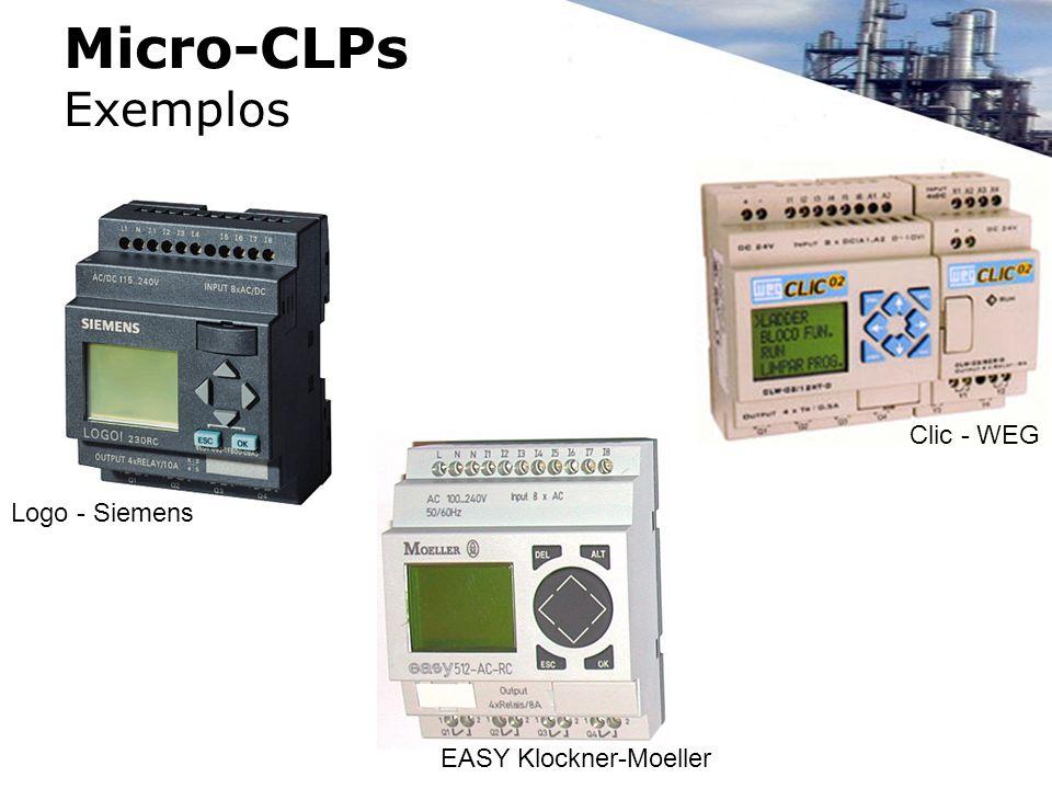 Micro-CLPs Exemplos Logo - Siemens Clic - WEG EASY Klockner-Moeller