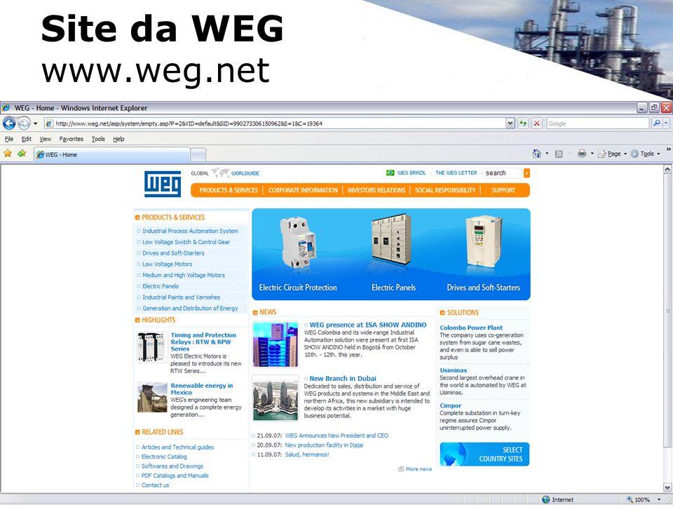 Site da WEG www.weg.net