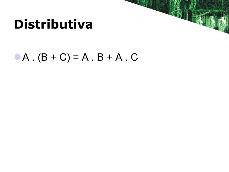 Distributiva A. (B + C) = A. B + A. C