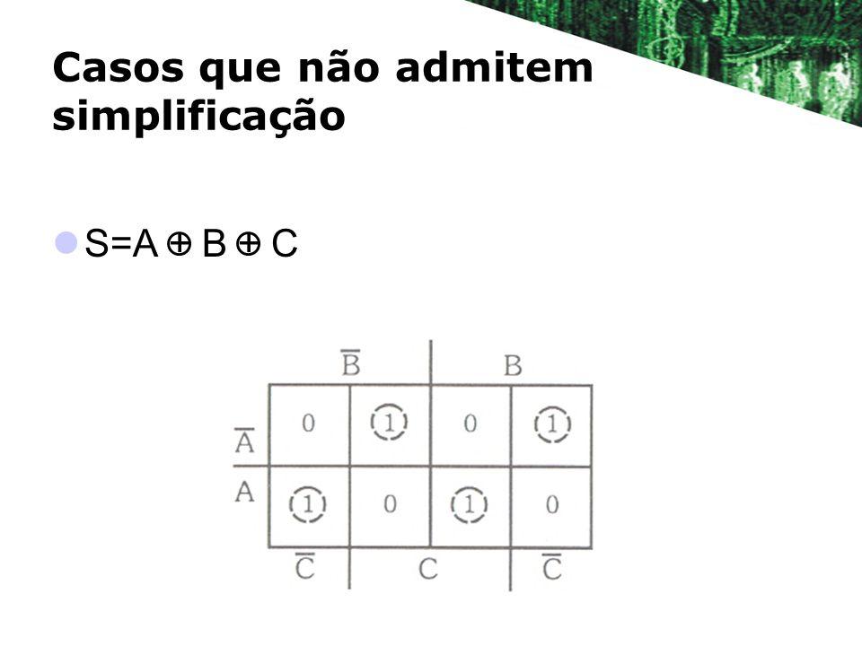 Casos que não admitem simplificação S=A + B + C
